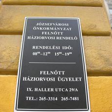 József körúti (Salétrom utcai) háziorvosi rendelő - dr. Varga Jolán (Fotó: ittlakunk.hu)