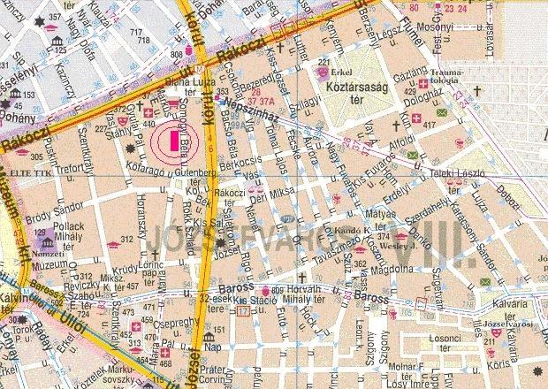 budapest 8 ker térkép VIII. kerület   Józsefváros | November 7 én ünnepli születésnapját  budapest 8 ker térkép