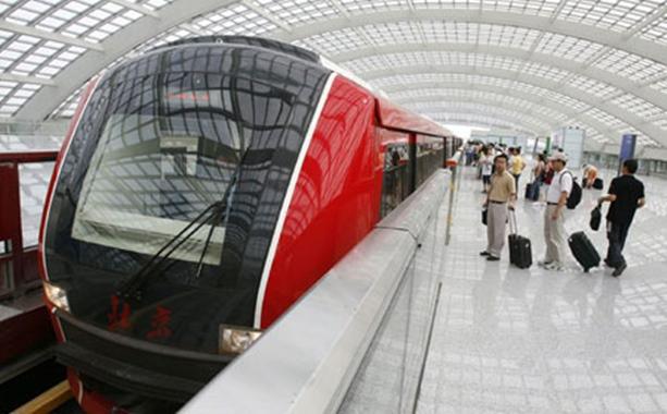 Pekingben ilyen a reptéri gyorsvasút (fotó: China.org.cn)